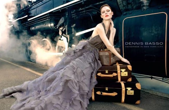 Canadian supermodel Coco Rocha for Dennis Basso, Fall 2013 Collection
