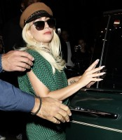 Lady Gaga Heads Leaves A Meeting In London